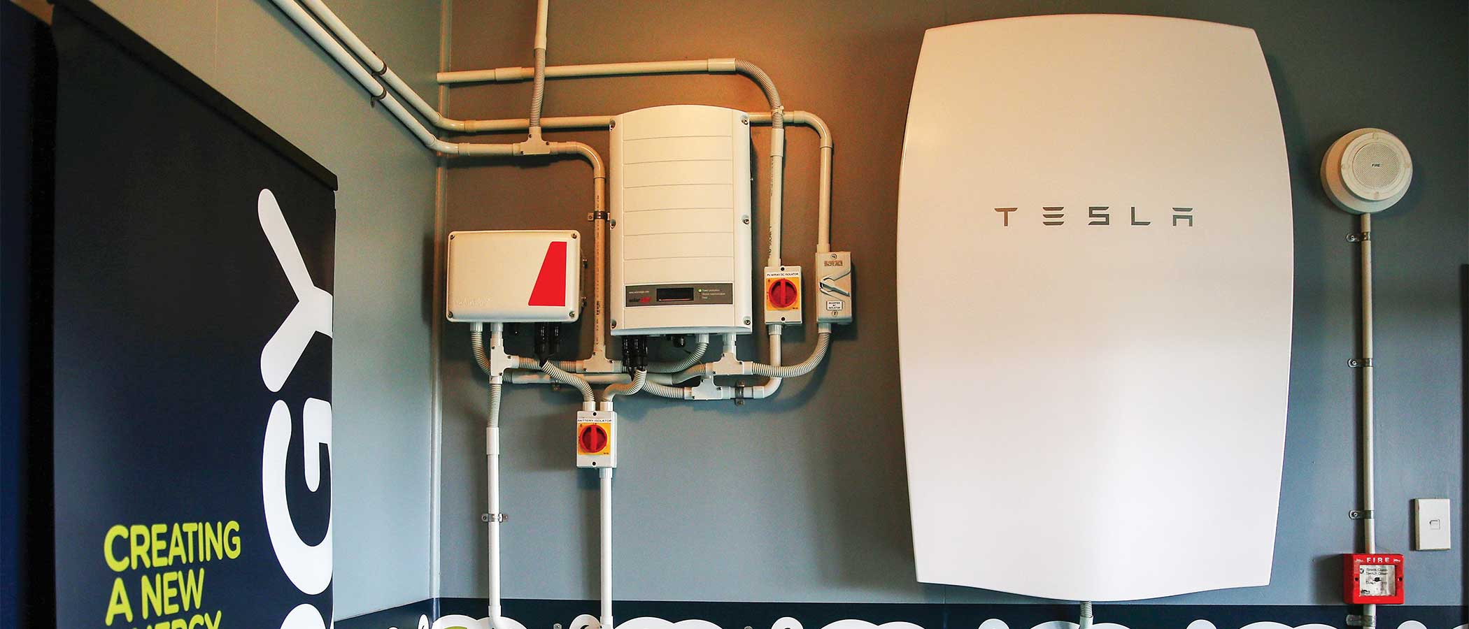 A Tesla Powerwall unit.