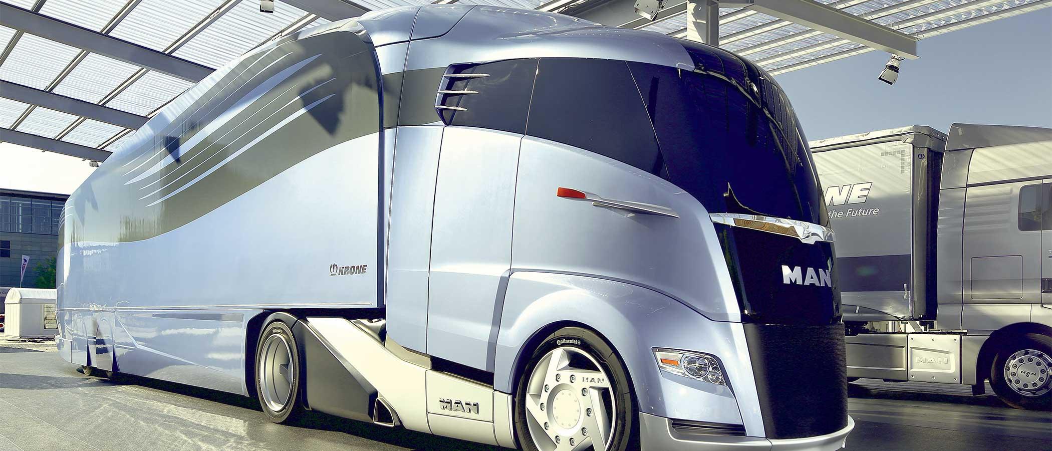 Concept commercial transport truck.