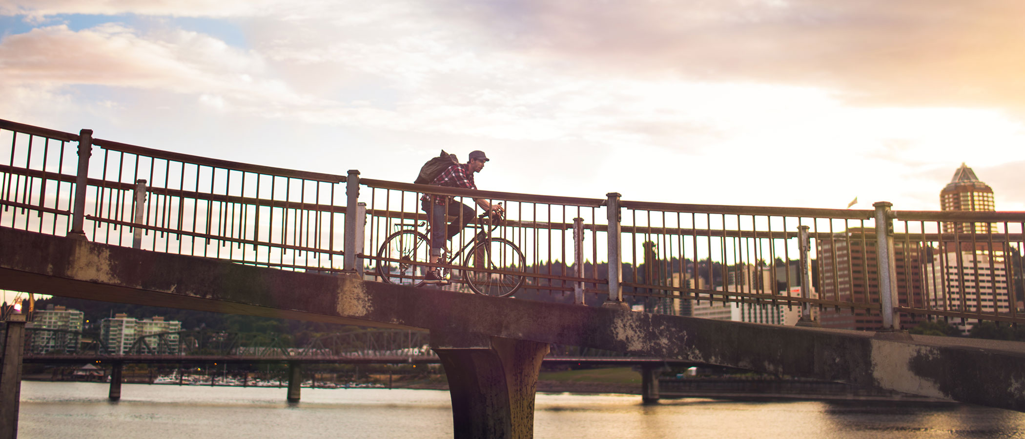 Bicycle rider in Portland, Oregon