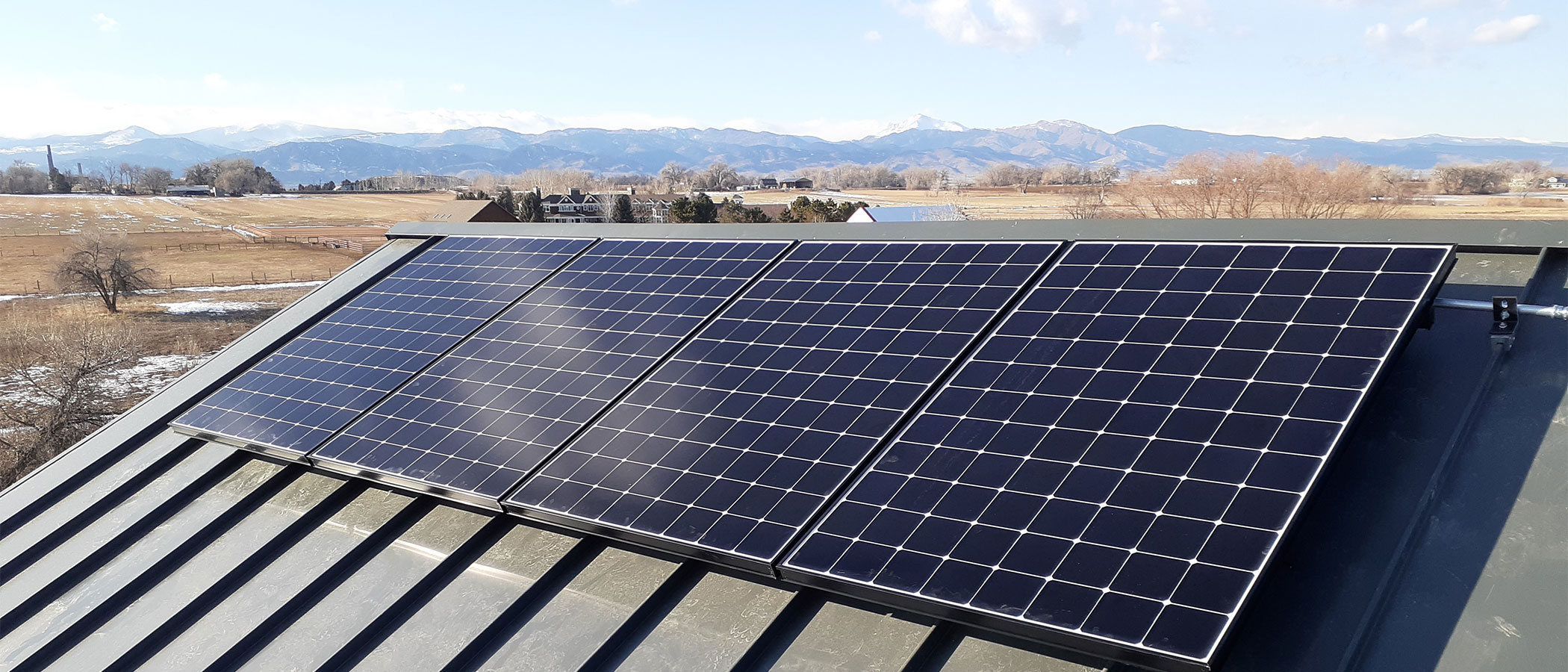 Roofstop solar panels