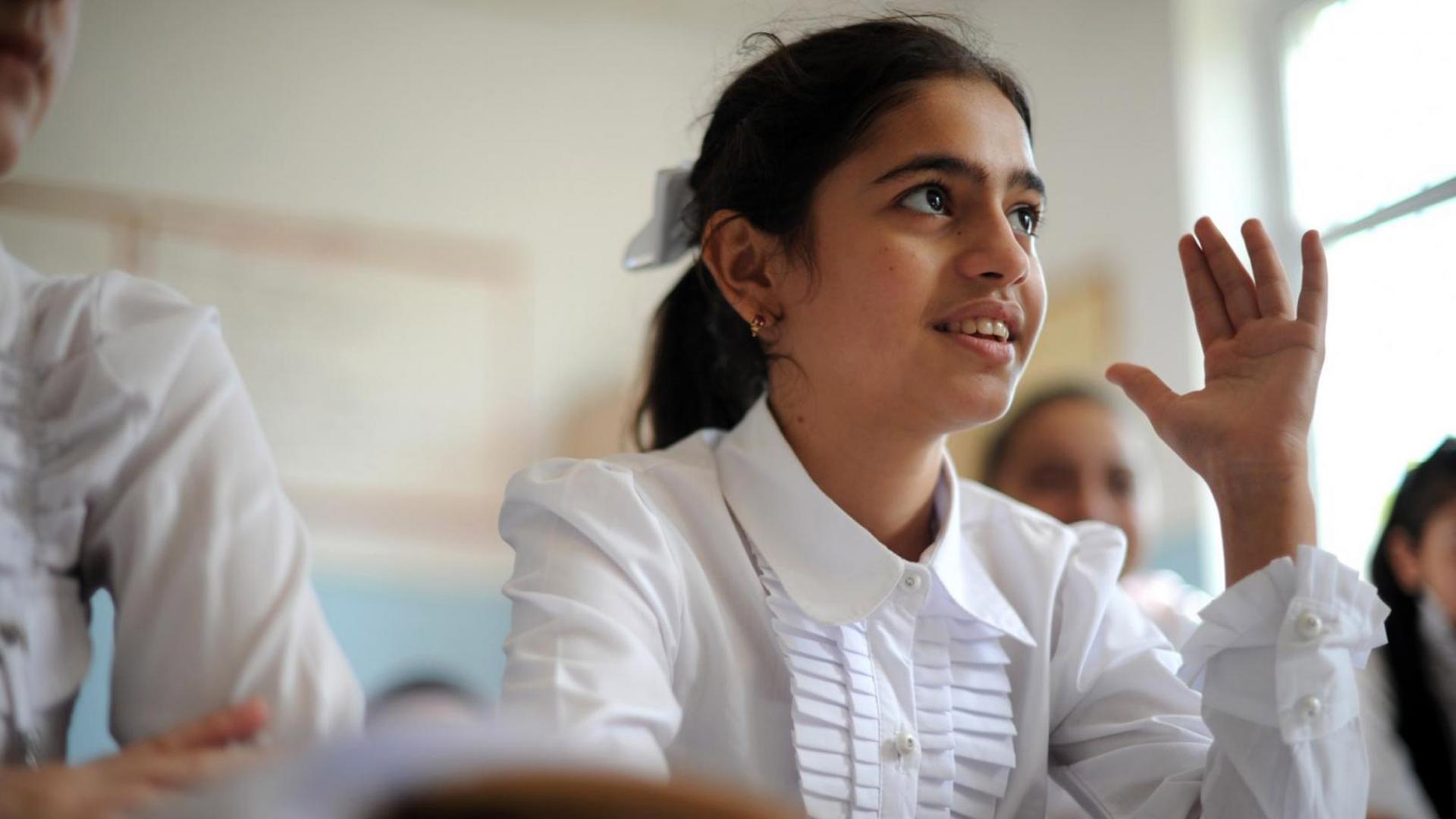 Young girl in school